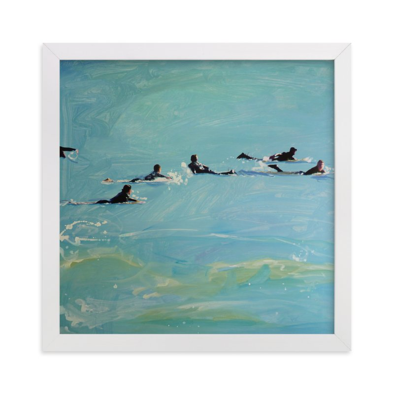 """""""Paddling Out 2"""" - Art Print by Annie Seaton in beautiful frame options and a variety of sizes."""