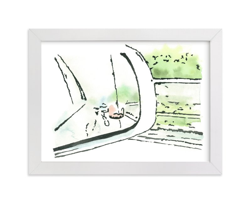 """""""Reflections In The Rain"""" - Art Print by Michelle Waldie in beautiful frame options and a variety of sizes."""