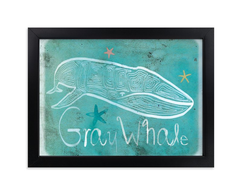 """""""Dot Gray Whale"""" - Art Print by Tracy Ann in beautiful frame options and a variety of sizes."""
