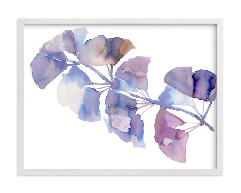 """""""SOFTLY GINKGO"""" - Art Print by Me Amelia in beautiful frame options and a variety of sizes."""