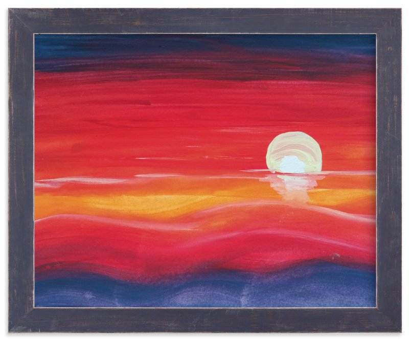 """""""Red Sunset"""" - Art Print by Roopali in beautiful frame options and a variety of sizes."""