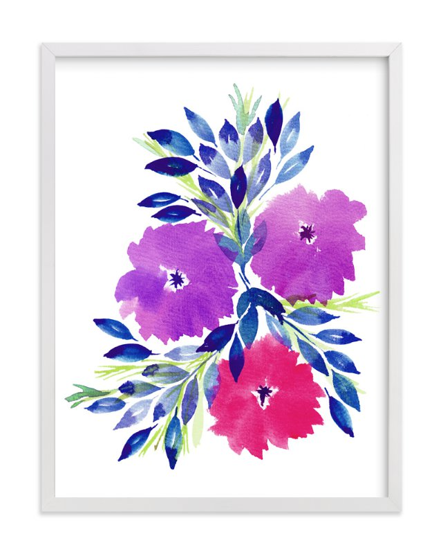 """""""hand painted flowers_2E"""" - Art Print by aticnomar in beautiful frame options and a variety of sizes."""