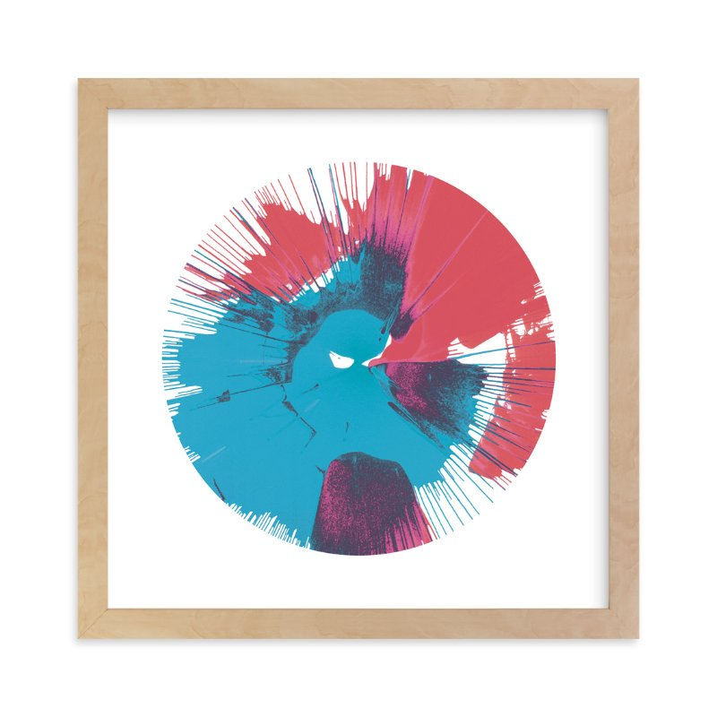 """Abstract Spin Art in Rocket Pop"" - Art Print by Lauren Webster in beautiful frame options and a variety of sizes."