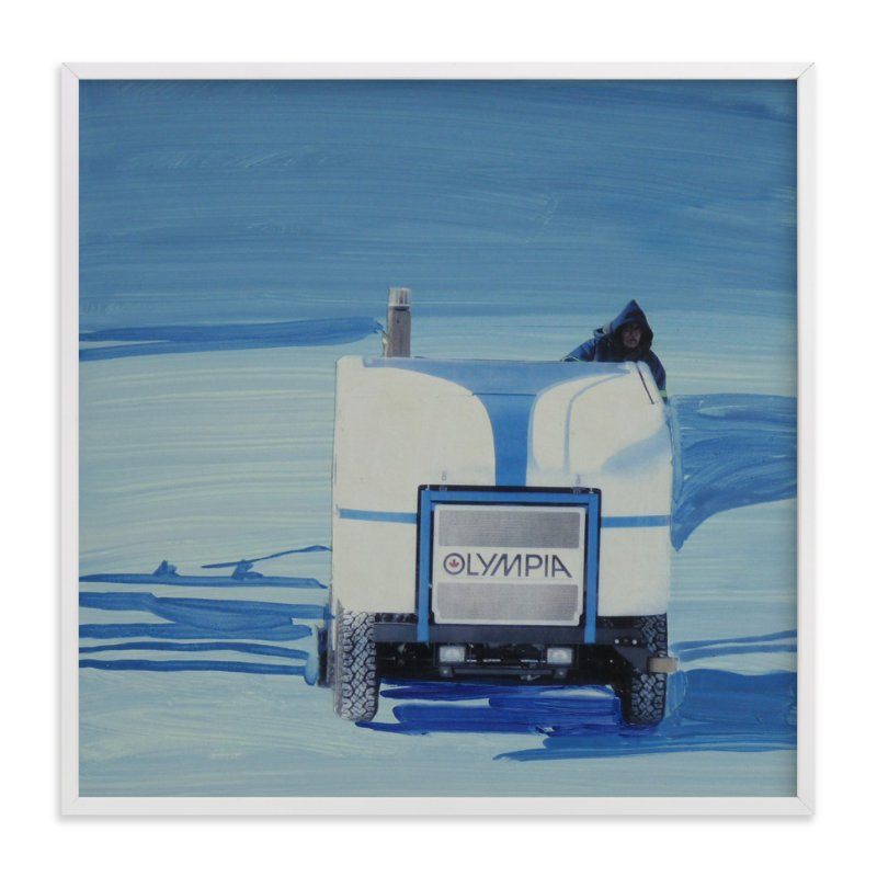 """""""Toronto Lakefront Zamboni"""" - Art Print by Annie Seaton in beautiful frame options and a variety of sizes."""