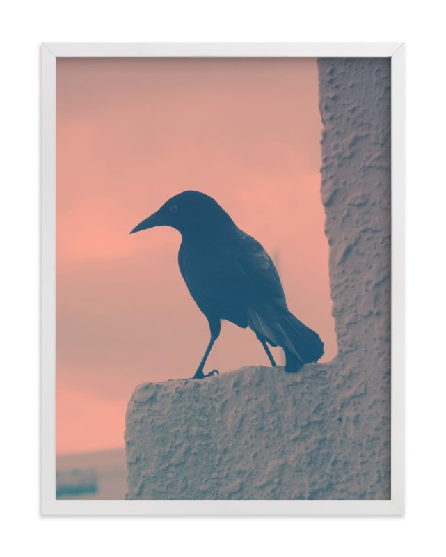 """Blackbird"" - Art Print by Gray Star Design in beautiful frame options and a variety of sizes."