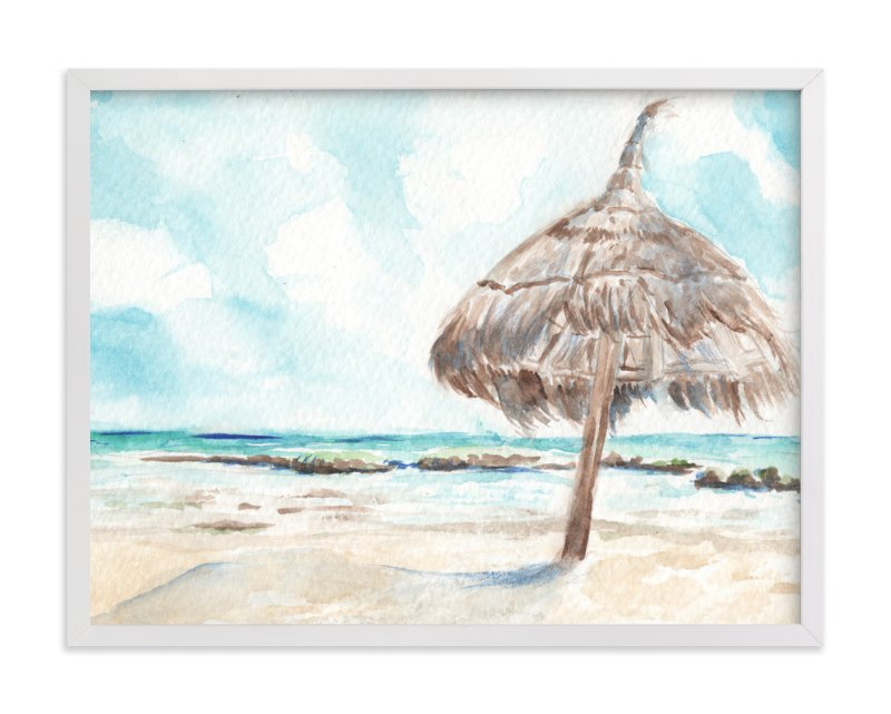 """La Palapa"" - Art Print by Annie Moran in beautiful frame options and a variety of sizes."