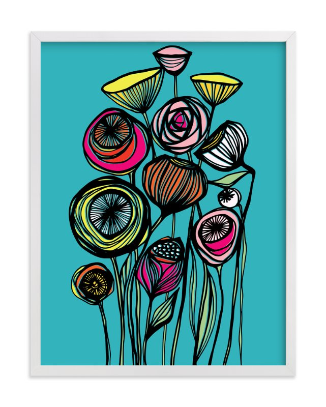 """Alcanena Floral"" - Art Print by Gill Eggleston in beautiful frame options and a variety of sizes."