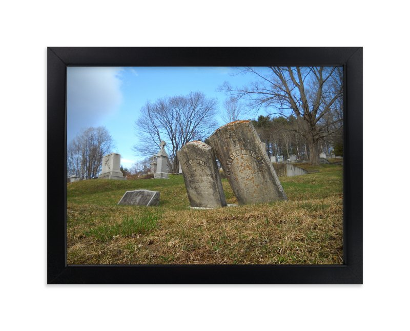 """""""Vermont Cemetery """" - Art Print by Kate Binns in beautiful frame options and a variety of sizes."""