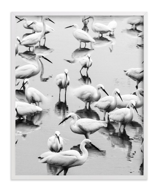"""Migratory Birds Part 2"" - Art Print by Hello Sophie Design Lab in beautiful frame options and a variety of sizes."
