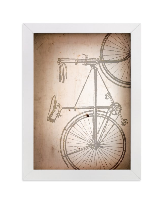 """""""Rusted Bike"""" - Art Print by Erin Niehenke in beautiful frame options and a variety of sizes."""
