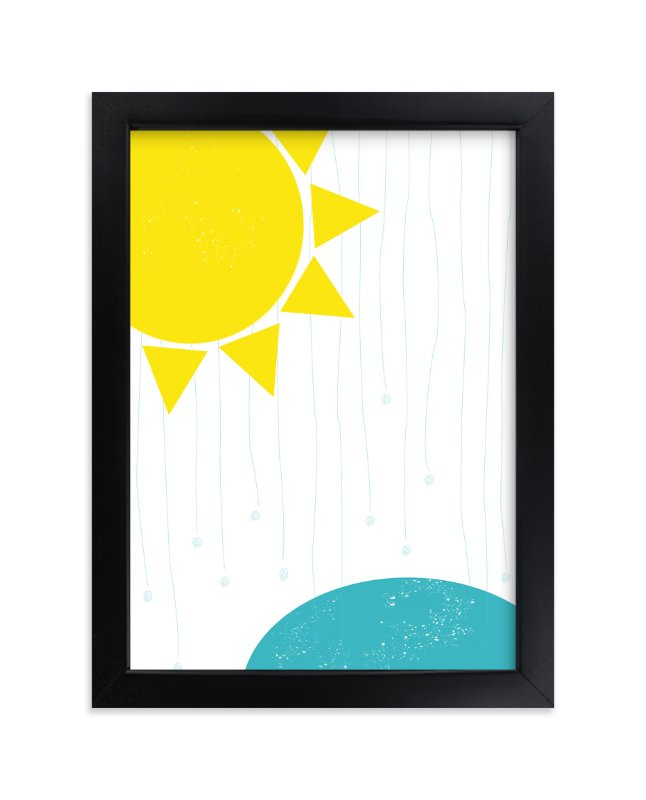 """""""Sunny Rain"""" - Art Print by Gaucho Works in beautiful frame options and a variety of sizes."""