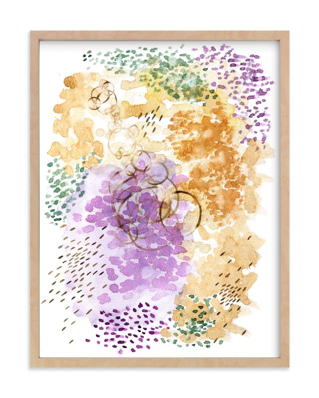 """Ripples Watercolor"" - Art Print by Andi Pahl in beautiful frame options and a variety of sizes."