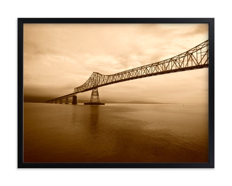 """""""Astoria-Megler Bridge"""" - Art Print by Michelee Scott in beautiful frame options and a variety of sizes."""