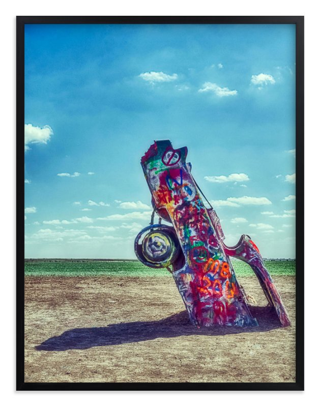 """""""Stuck in Cadillac Ranch"""" - Art Print by BTK-Delete in beautiful frame options and a variety of sizes."""