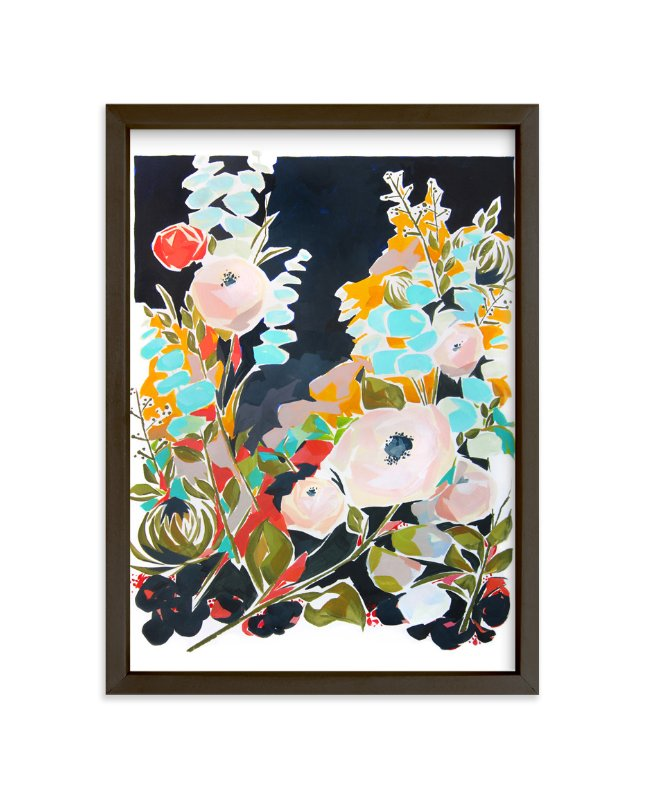 """Thrive Floral"" - Art Print by Jess Franks in beautiful frame options and a variety of sizes."