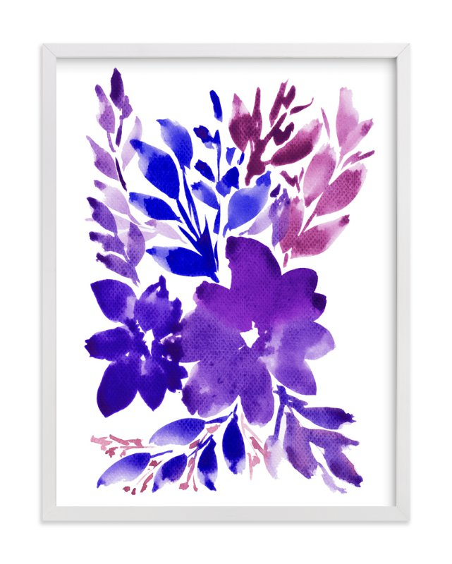 """""""hand painted flowers_2H"""" - Art Print by aticnomar in beautiful frame options and a variety of sizes."""