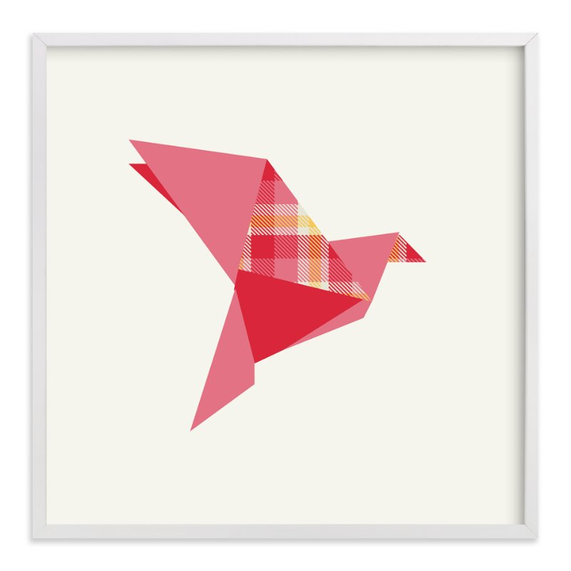 """""""Origami Flight"""" - Art Print by Vanessa Wyler in beautiful frame options and a variety of sizes."""