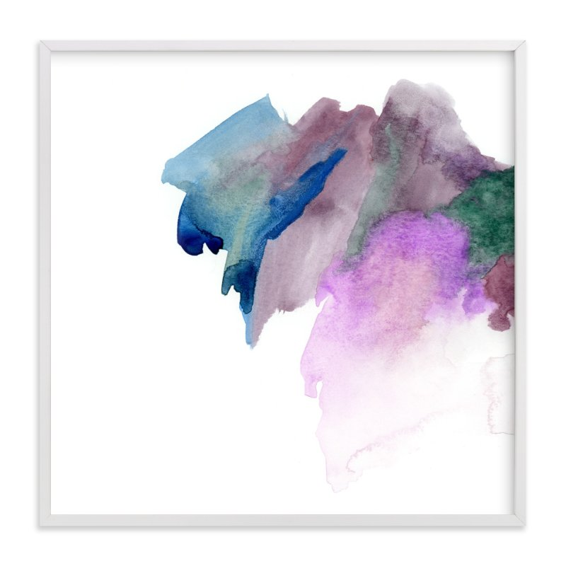 """""""White Space 2"""" - Art Print by Mande in beautiful frame options and a variety of sizes."""