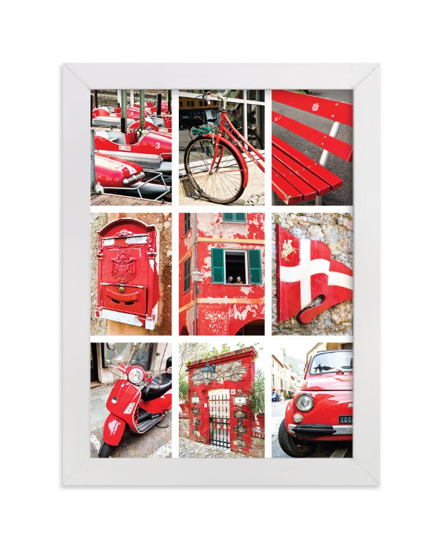 """""""Lulev Red"""" - Art Print by Three Kisses Studio in beautiful frame options and a variety of sizes."""