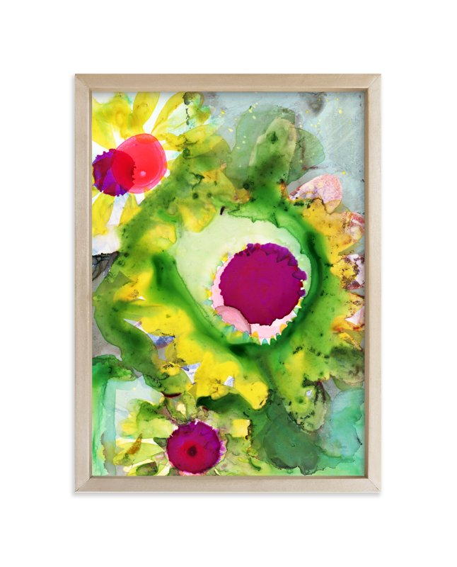 """""""Abstract Daisy"""" - Art Print by Anna Marie Farmer in beautiful frame options and a variety of sizes."""