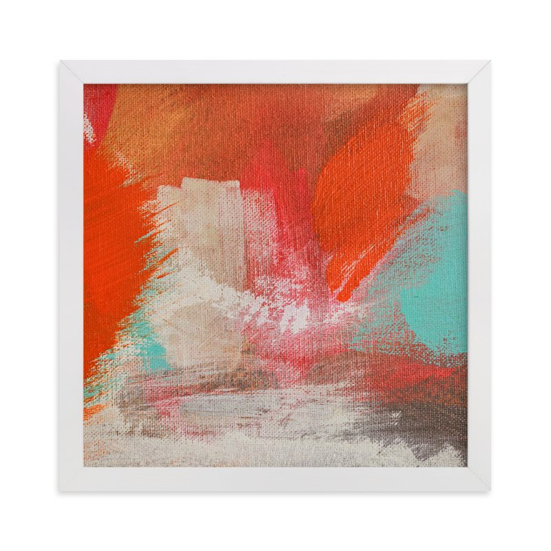 """Fire on the Water"" - Art Print by Stacy Kron in beautiful frame options and a variety of sizes."