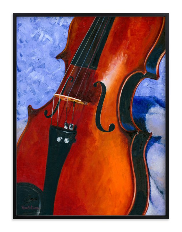 """Grandfather's Violin"" - Art Print by Robert Deem in beautiful frame options and a variety of sizes."