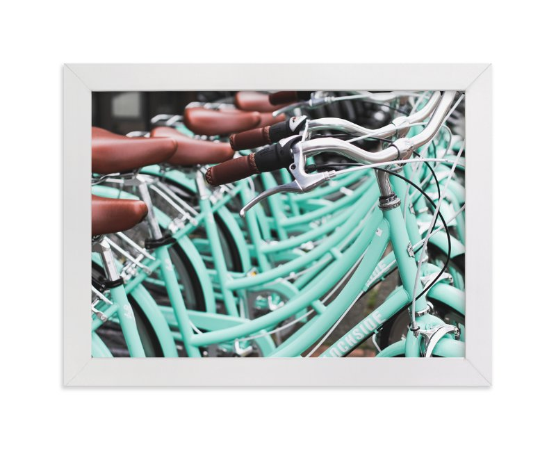 """""""Bicycle Row"""" - Art Print by Annie Montgomery in beautiful frame options and a variety of sizes."""