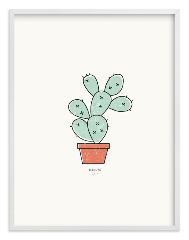 """""""Cactus fig. 1"""" - Art Print by Stacey Meacham in beautiful frame options and a variety of sizes."""