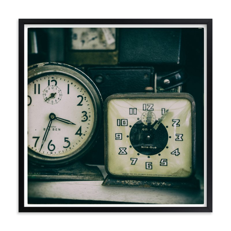 """Two Clocks"" - Art Print by Ann Gardner in beautiful frame options and a variety of sizes."