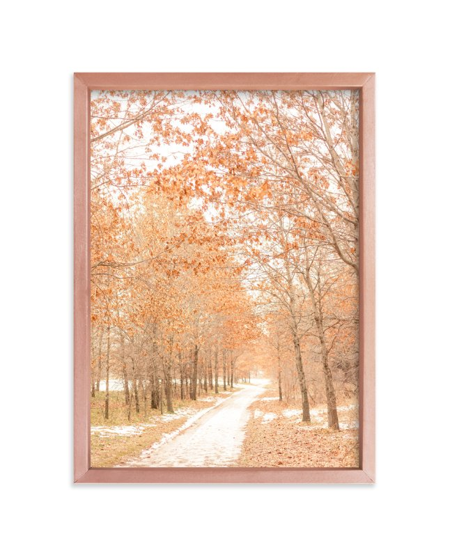 """""""Winter Yielding"""" - Art Print by Kamala Nahas in beautiful frame options and a variety of sizes."""