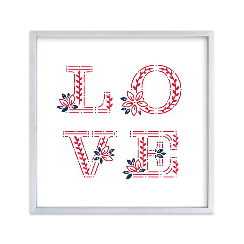 """"""" Love Everywhere"""" - Art Print by Mansi in beautiful frame options and a variety of sizes."""