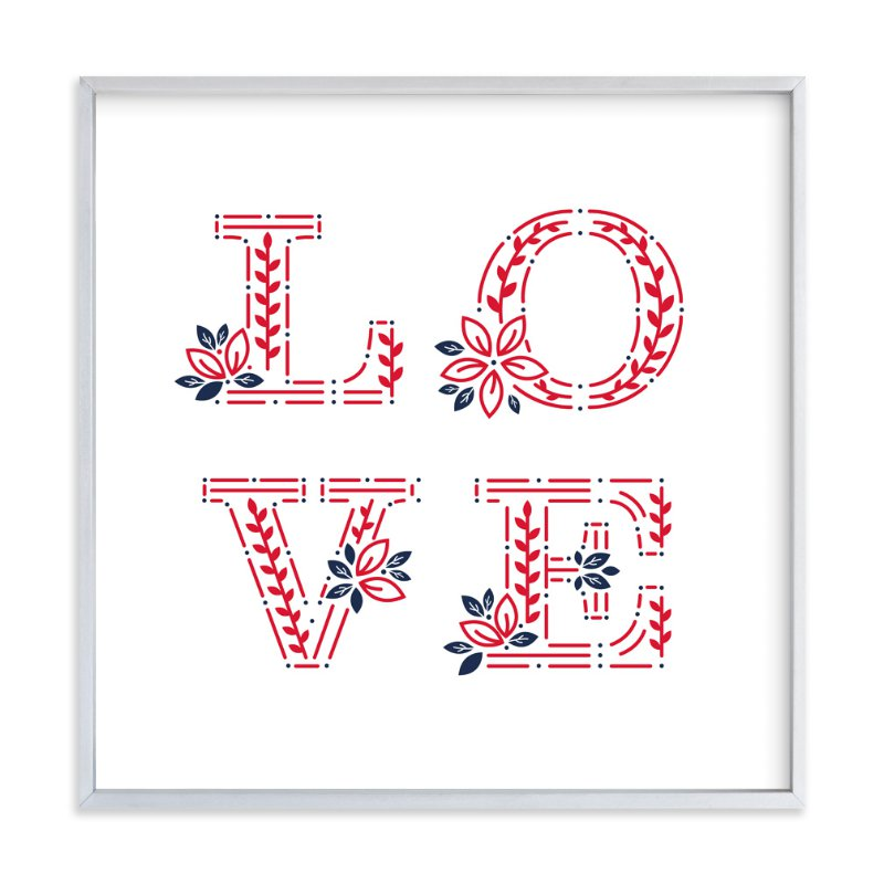 """ Love Everywhere"" - Art Print by Mansi in beautiful frame options and a variety of sizes."