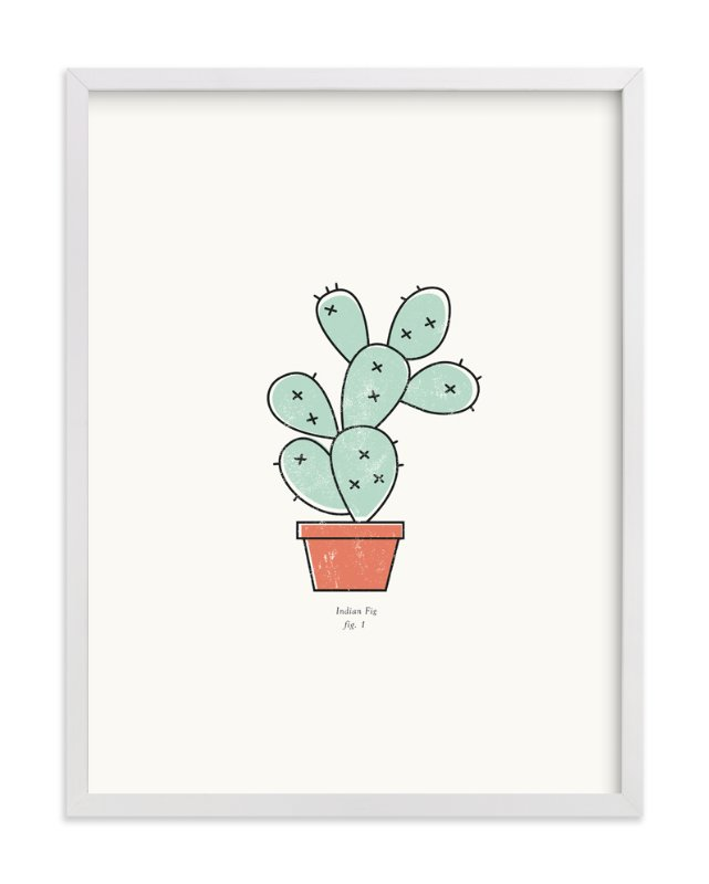 """Cactus fig. 1"" - Art Print by Stacey Meacham in beautiful frame options and a variety of sizes."