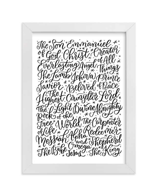 """All the Names of Jesus"" - Art Print by Laura Bolter Design in beautiful frame options and a variety of sizes."