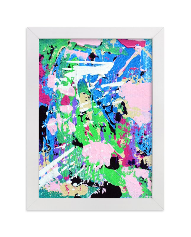 """""""Color Burst IV"""" - Art Print by Pooja Pittie in beautiful frame options and a variety of sizes."""