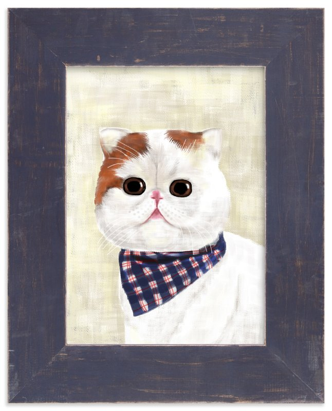 """""""Little Cat"""" - Art Print by iamtanya in beautiful frame options and a variety of sizes."""