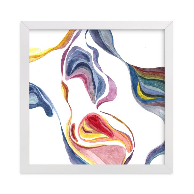 """Flow in colors"" - Art Print by XL in beautiful frame options and a variety of sizes."