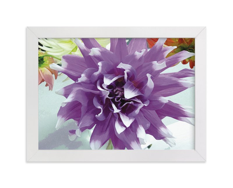"""""""Watercolor Dahlia"""" - Art Print by Mo Rutkin in beautiful frame options and a variety of sizes."""