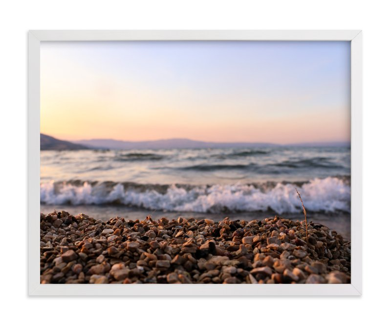 """Sea of Galilee"" - Art Print by Heather Squance in beautiful frame options and a variety of sizes."
