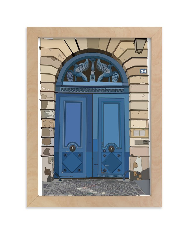 """The Blue Door"" - Art Print by Pat Jennings in beautiful frame options and a variety of sizes."