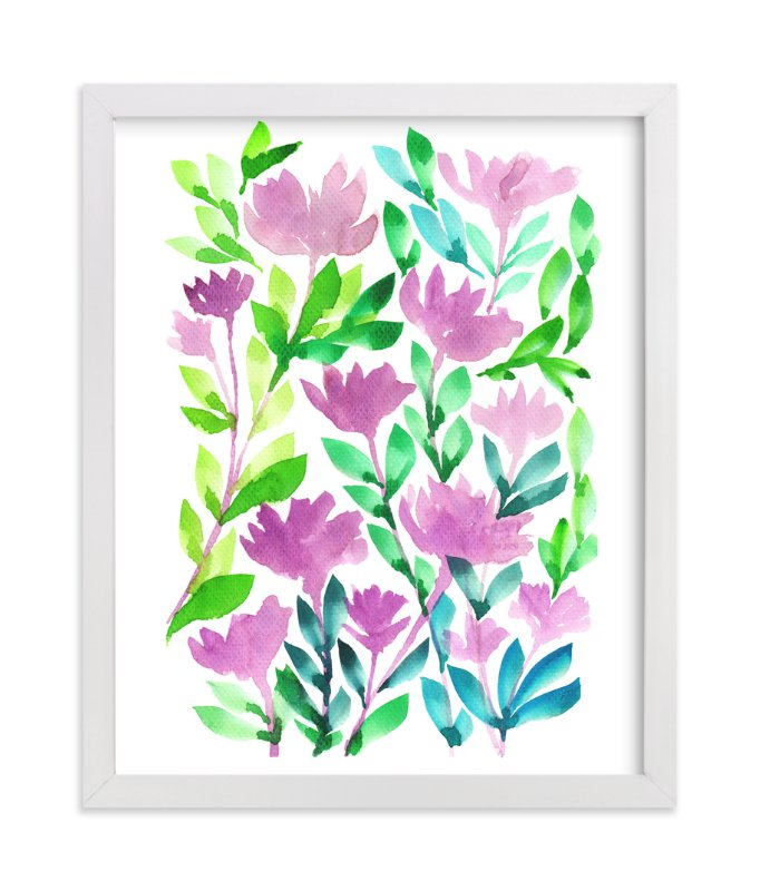 """hand painted flowers_1A"" - Art Print by aticnomar in beautiful frame options and a variety of sizes."