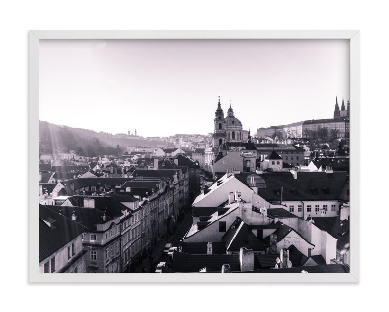 """""""Sunshine Over Prague"""" - Art Print by Heather Squance in beautiful frame options and a variety of sizes."""