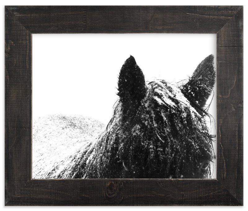 """Snowstorm"" - Art Print by Leslie Le Coq in beautiful frame options and a variety of sizes."