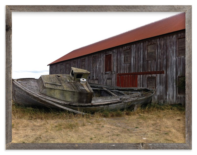 """""""Old Boat"""" - Art Print by Jan Kessel in beautiful frame options and a variety of sizes."""