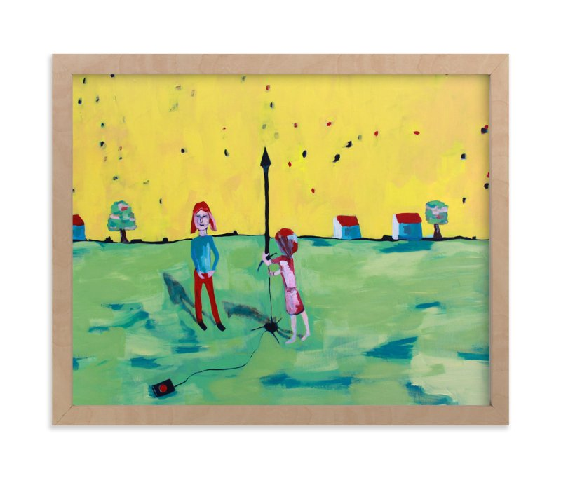 """Rocket Girls"" - Art Print by Tracie Christine in beautiful frame options and a variety of sizes."