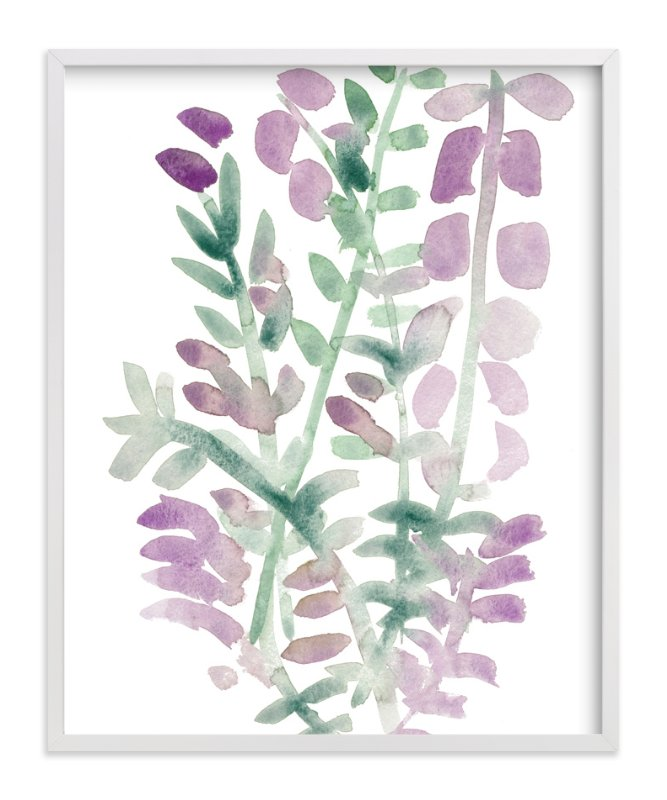 """Watercolor Lavender"" - Art Print by Kim Johnson in beautiful frame options and a variety of sizes."