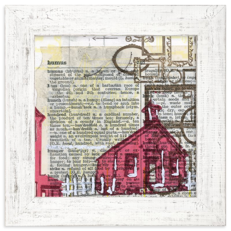 """""""Schoolhouse Rock No.2"""" - Art Print by Kelly Maron Horvath in beautiful frame options and a variety of sizes."""
