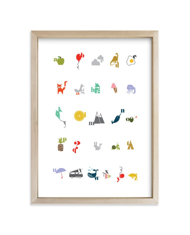 """""""graphic abcs"""" - Art Print by KirstenEva in beautiful frame options and a variety of sizes."""