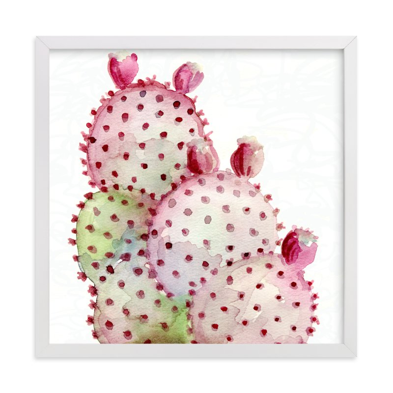 """""""Cactus Love One"""" - Art Print by Me Amelia in beautiful frame options and a variety of sizes."""
