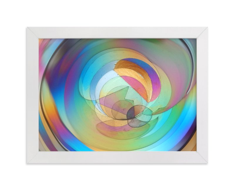 """""""Rainbow Prism 1"""" - Art Print by Jan Kessel in beautiful frame options and a variety of sizes."""